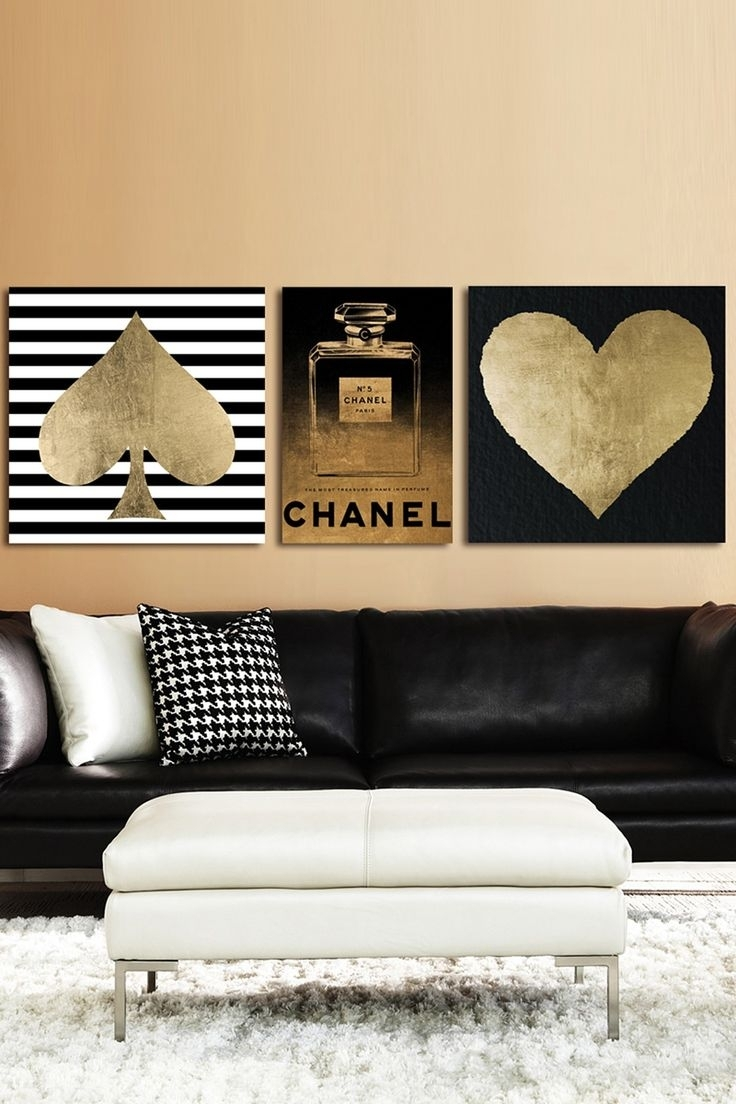 Enchanting 25 Black And Gold Wall Art Decorating Design, Gold Wall Pertaining To Most Recent Black And Gold Wall Art (View 9 of 20)