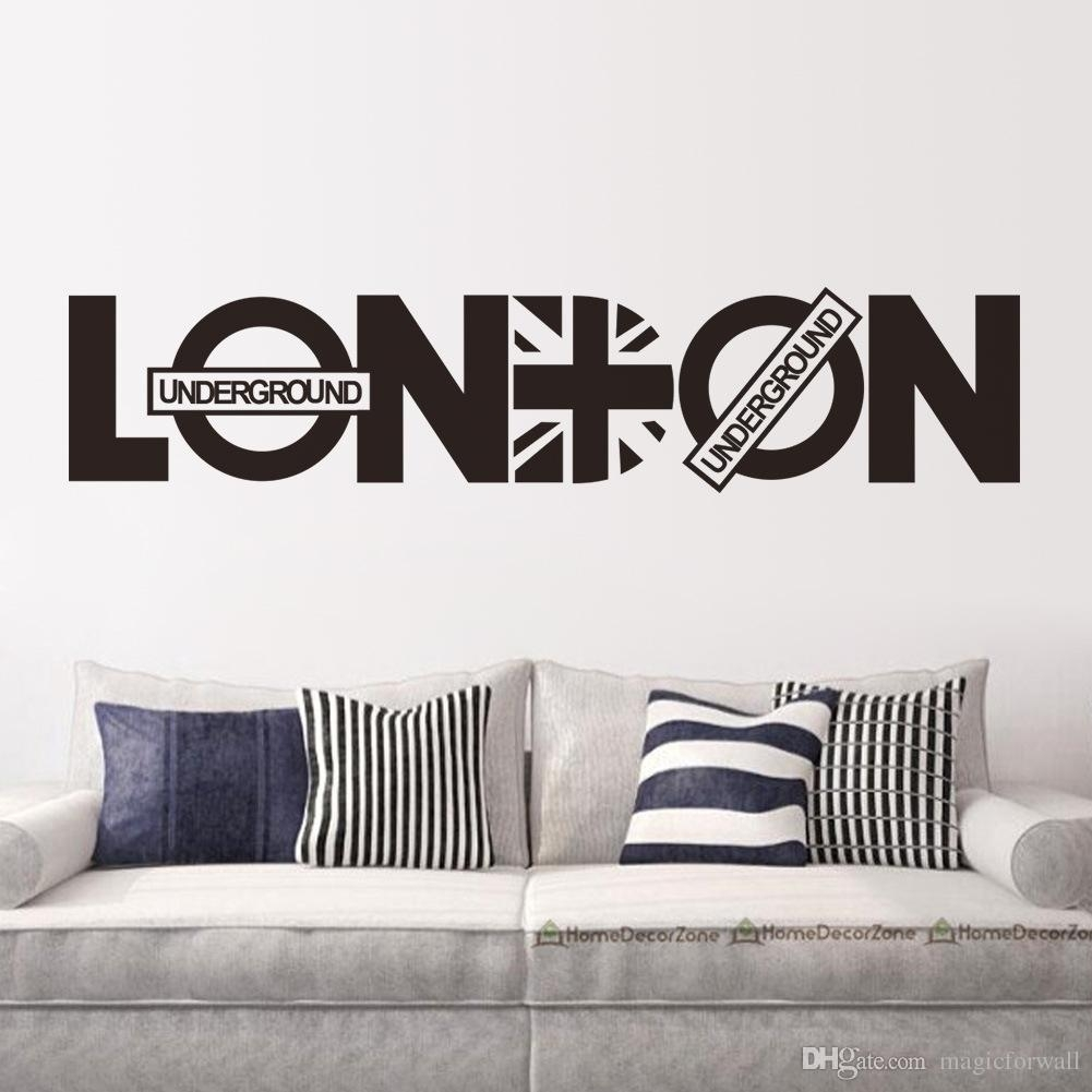 English Letter London Wall Art Decal Sticker London Wall Quote Decor With Regard To Most Current London Wall Art (View 11 of 20)
