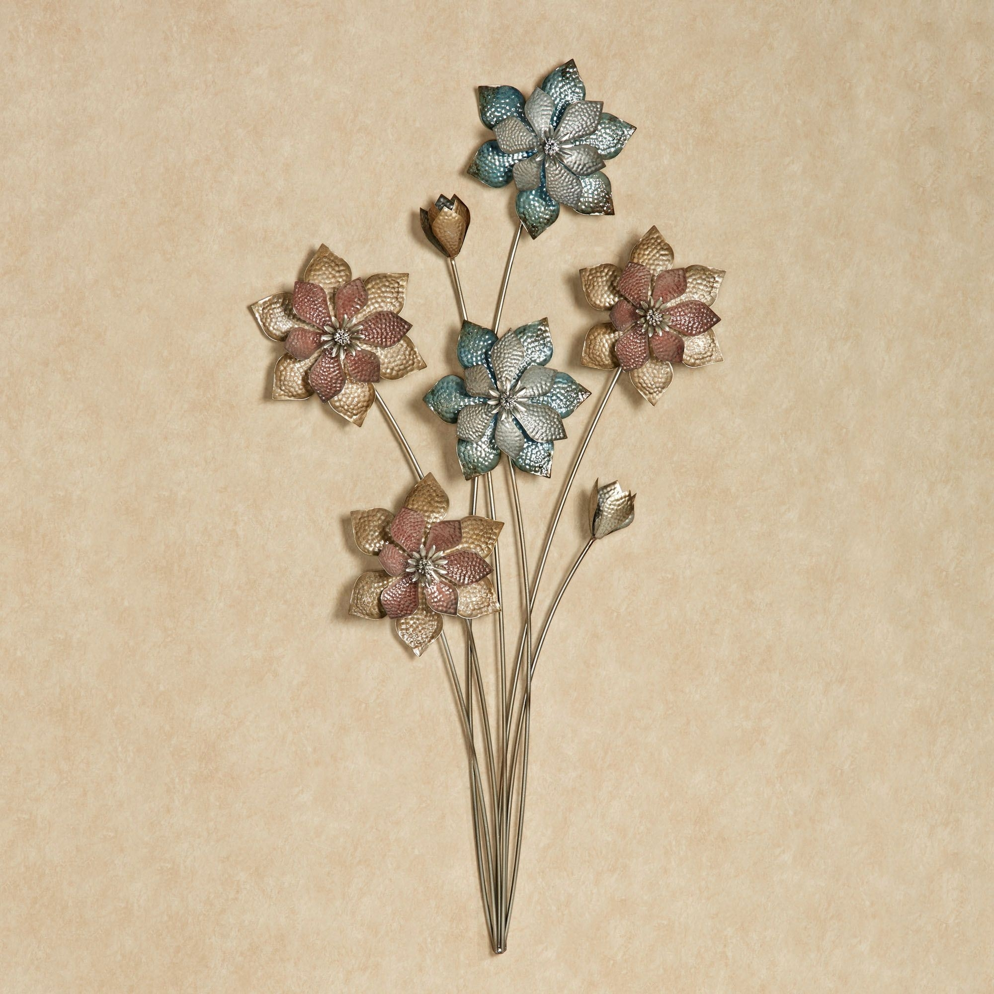 Evening Flowers Metal Wall Art With Most Up To Date Metal Flowers Wall Art (View 2 of 20)