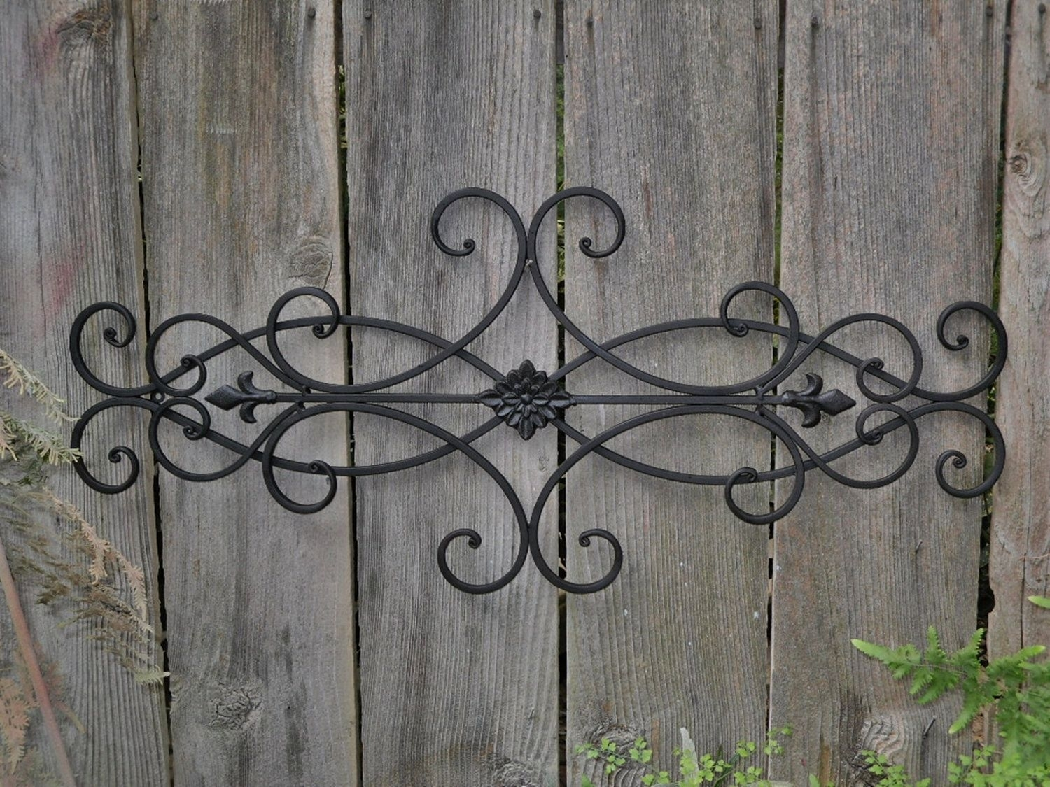Exterior Wall Art | Wall Decor Indoor Outdoor Cottage Style Fleur De Intended For Latest Wrought Iron Wall Art (View 3 of 15)