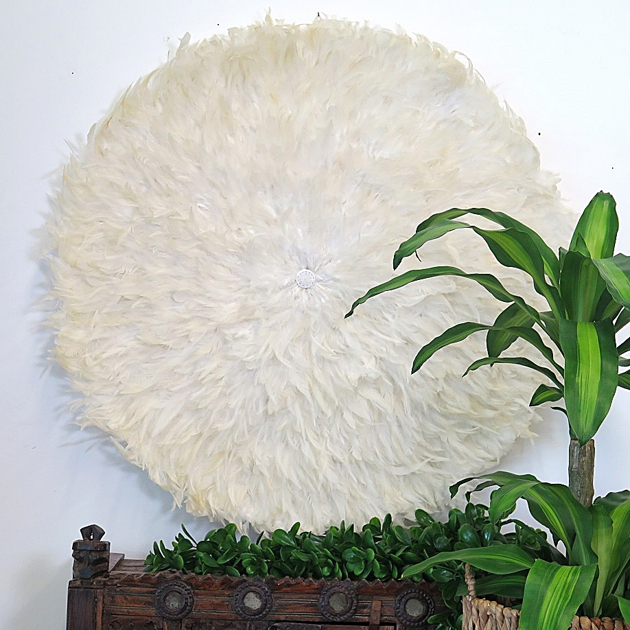 Extra Large Feather Wall Art – Ivory – Without Shell Detail – Maison Pertaining To Recent Feather Wall Art (View 8 of 20)