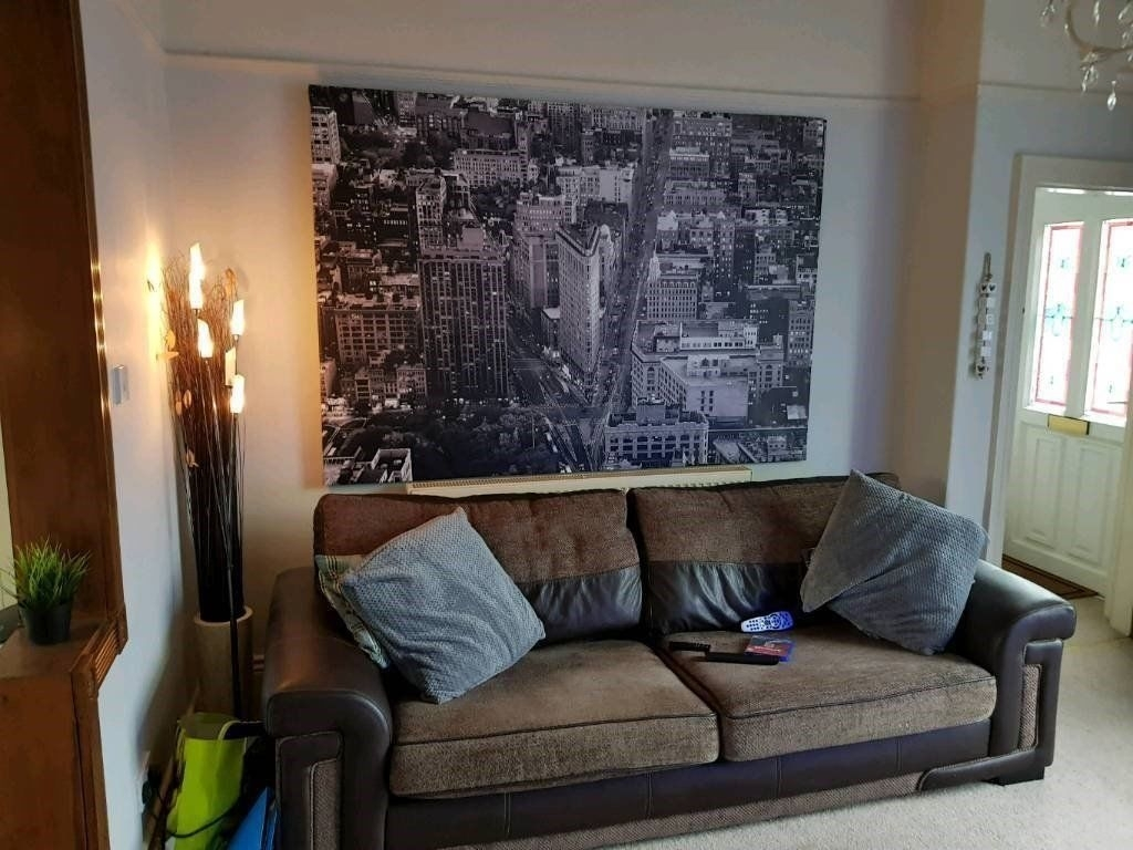 Extra Large Ikea Canvas Framed Picture New York Wall Art Rrp £100 In Current New York Wall Art (View 14 of 20)