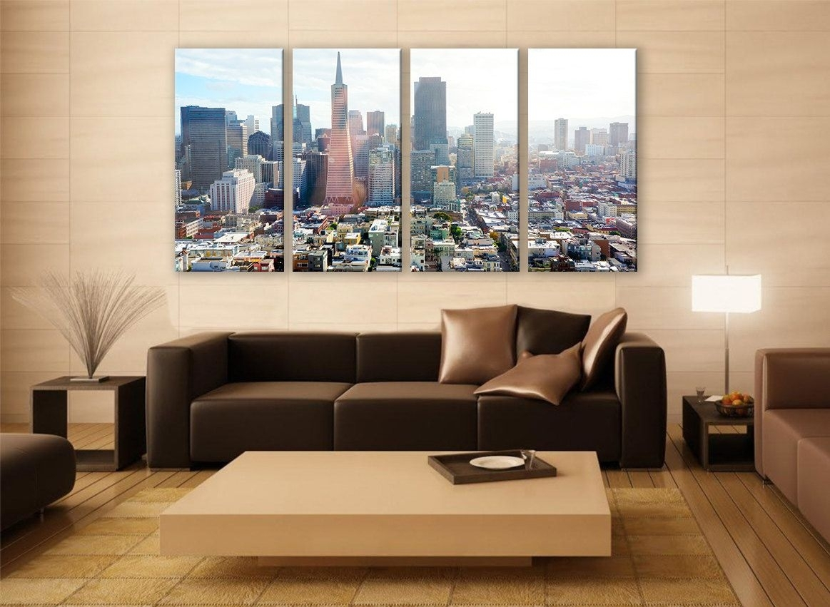 Extra Large Wall Art San Franciscco Cityscape Photography For Home With Regard To 2018 Extra Large Wall Art (View 13 of 20)
