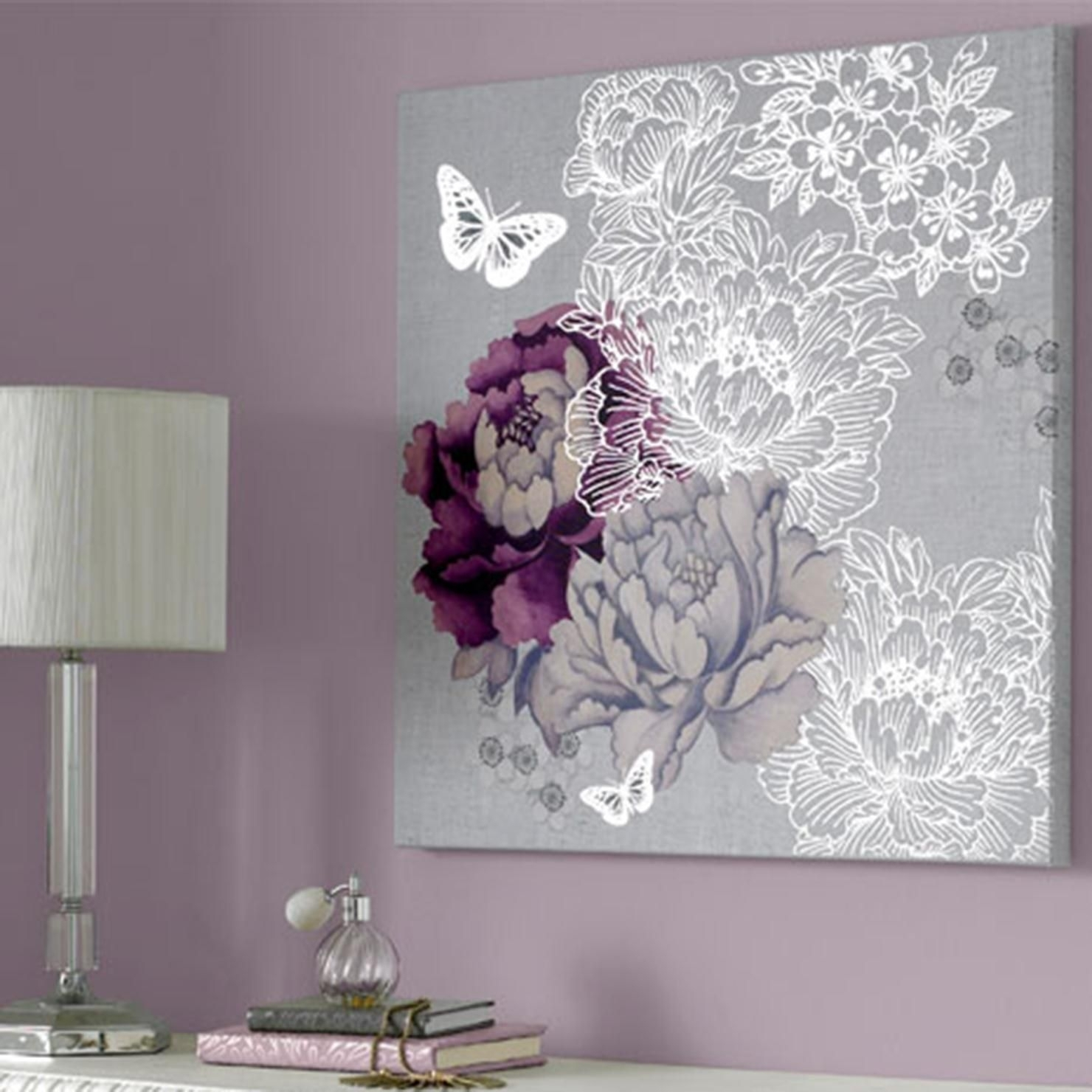 Extremely Inspiration Purple And Gray Wall Art – Ishlepark Regarding Current Purple And Grey Wall Art (View 6 of 20)