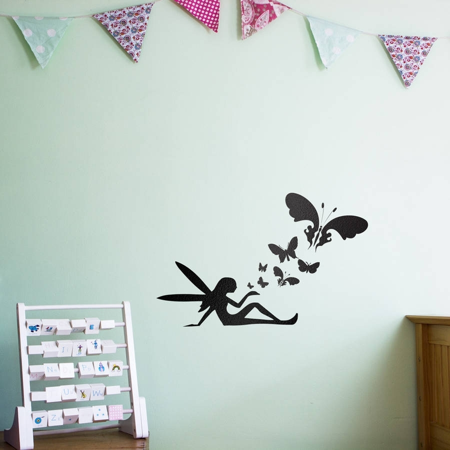 Fairy Butterflies Wall Art Decal For Kidsvinyl Revolution Inside Most Popular Butterfly Wall Art (Gallery 1 of 15)