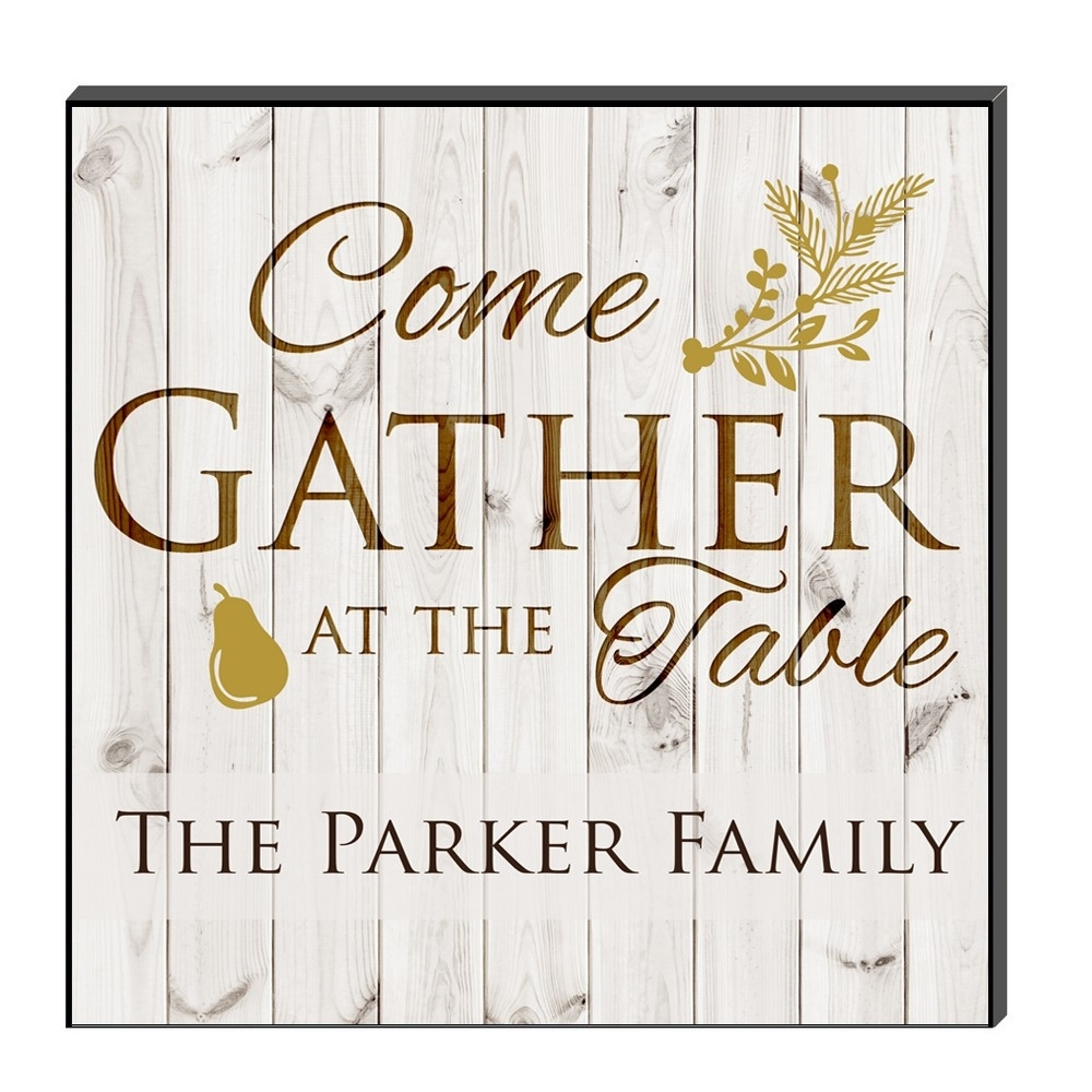 Family Gathering Personalized Wall Art Panel With Regard To 2017 Personalized Wall Art (View 2 of 15)