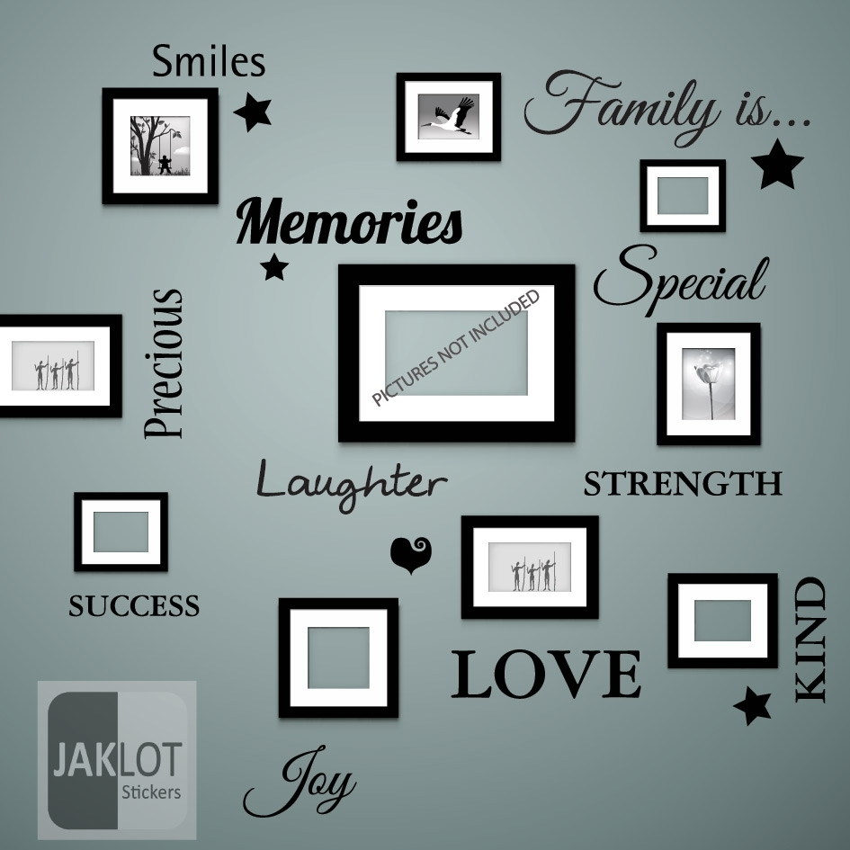 Family Is Words Wall Art Quote – Vinyl Decal Sticker Great Christmas Within Most Up To Date Word Wall Art (View 6 of 20)