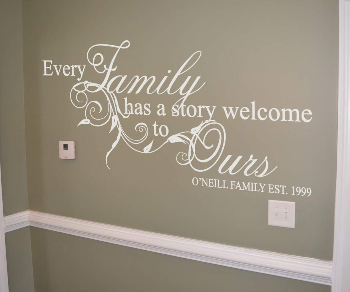 Family Story Personalised Wall Art Decal | Wall Art Decal With Regard To Most Recent Family Wall Art (Gallery 6 of 15)