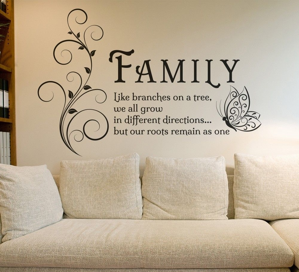 Family Tree Wall Art Sticker | Thank You Lord | Pinterest | Walls Pertaining To Most Recently Released Family Wall Art (Gallery 1 of 15)