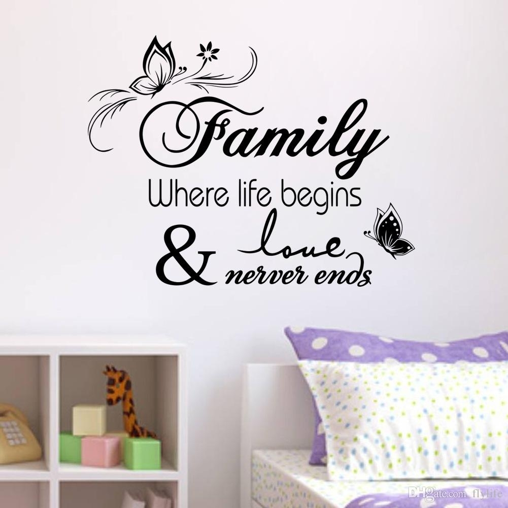 Family Vinyl Wall Quote Decal Stickers For Home Decor Wall Decal For In 2017 Vinyl Wall Art (View 3 of 15)