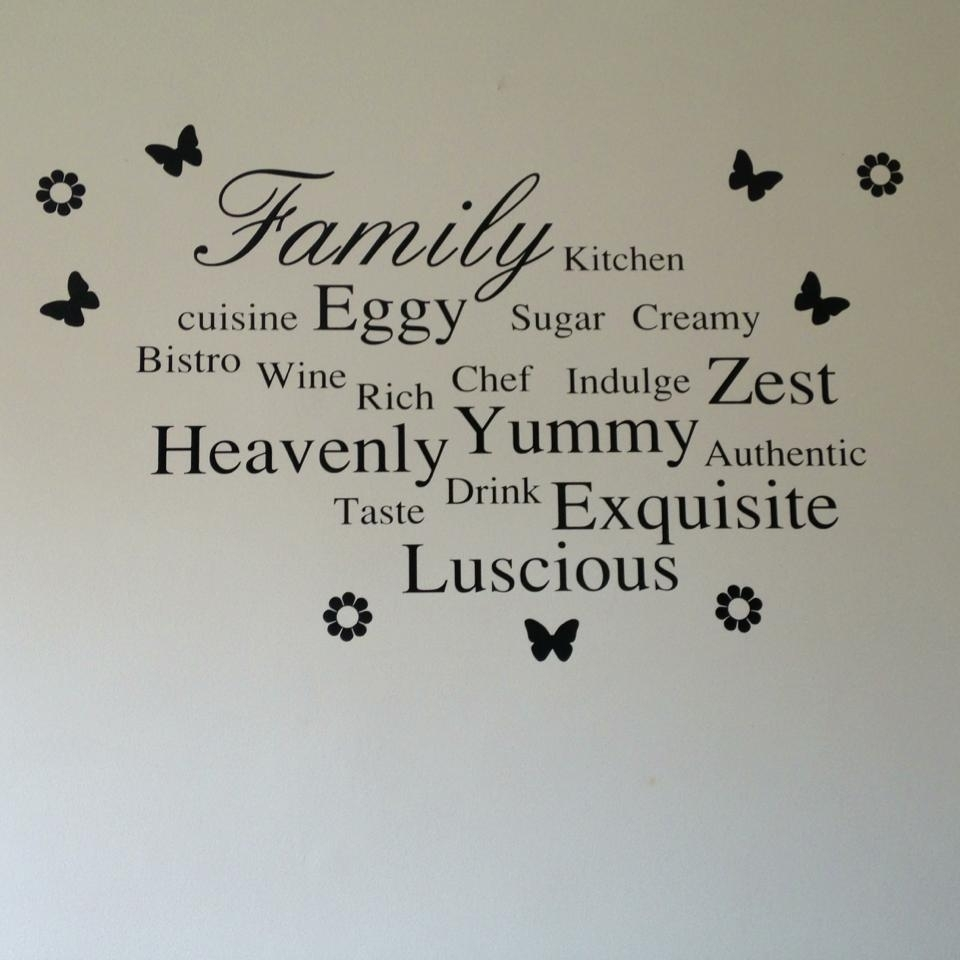 Family & Words Kitchen Wall Art With 2017 Wall Art For Kitchen (View 7 of 20)