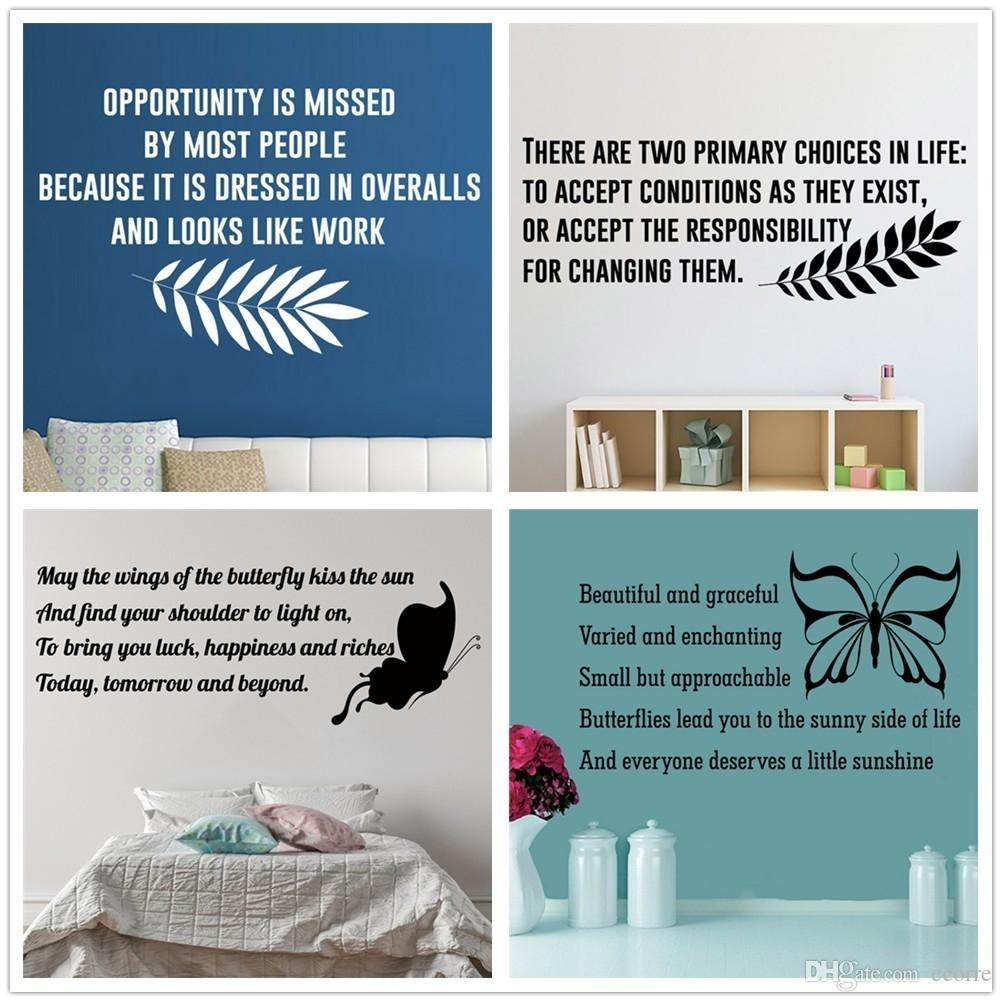 Famous Inspirational Quotes Wall Decals Vinyl Lettering Wall Sticker intended for Most Recently Released Inspirational Quotes Wall Art