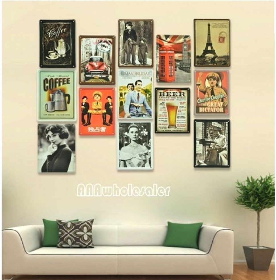 Fascinating Interesting Retro Wall Decor Ideas Kitchen Art Diner With Regard To Most Up To Date Vintage Wall Art (View 5 of 15)