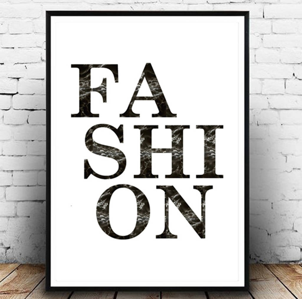 Fashion' Wall Art Fashion Printgirl Limit | Notonthehighstreet with regard to 2017 Fashion Wall Art
