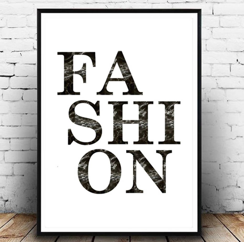 Fashion' Wall Art Fashion Printgirl Limit | Notonthehighstreet With Regard To 2017 Fashion Wall Art (View 14 of 20)
