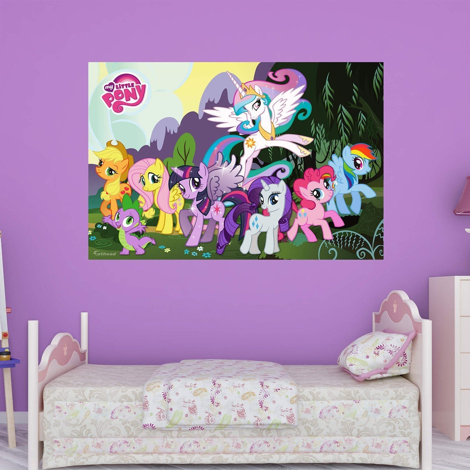 Fathead My Little Pony Wall Mural – 1030 00033 | Products With Most Up To Date My Little Pony Wall Art (View 17 of 20)