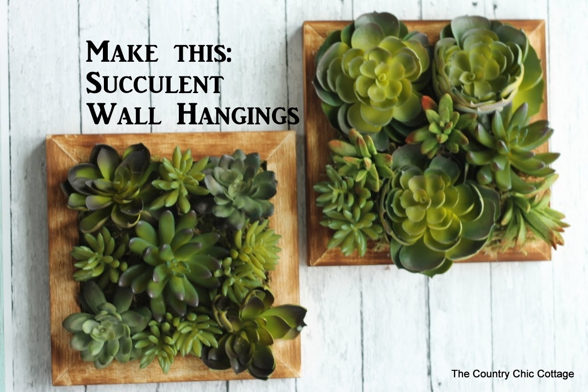 Faux Succulent Wall Hanging #craftsunder10Hoa – Youtube Intended For Recent Succulent Wall Art (View 5 of 20)