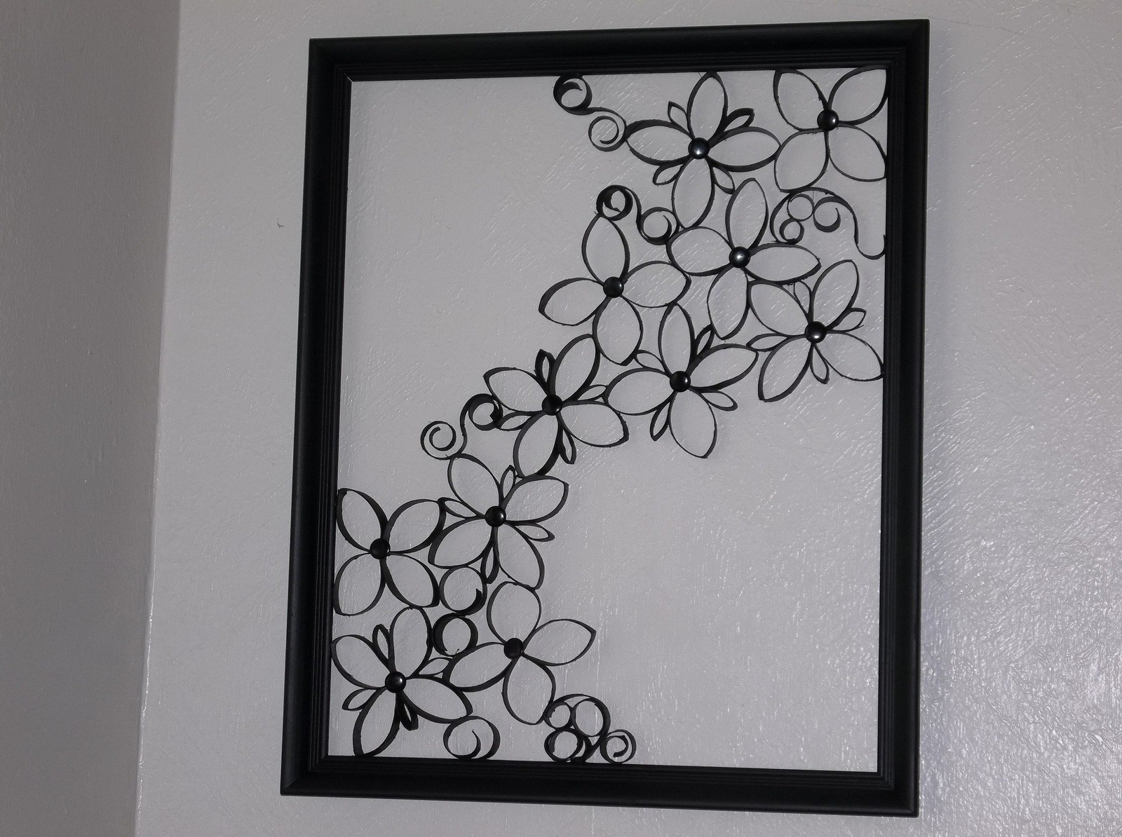 Faux Wrought Iron Wall Art For Under $5 · How To Make A Paper Roll For Current Iron Wall Art (View 9 of 20)