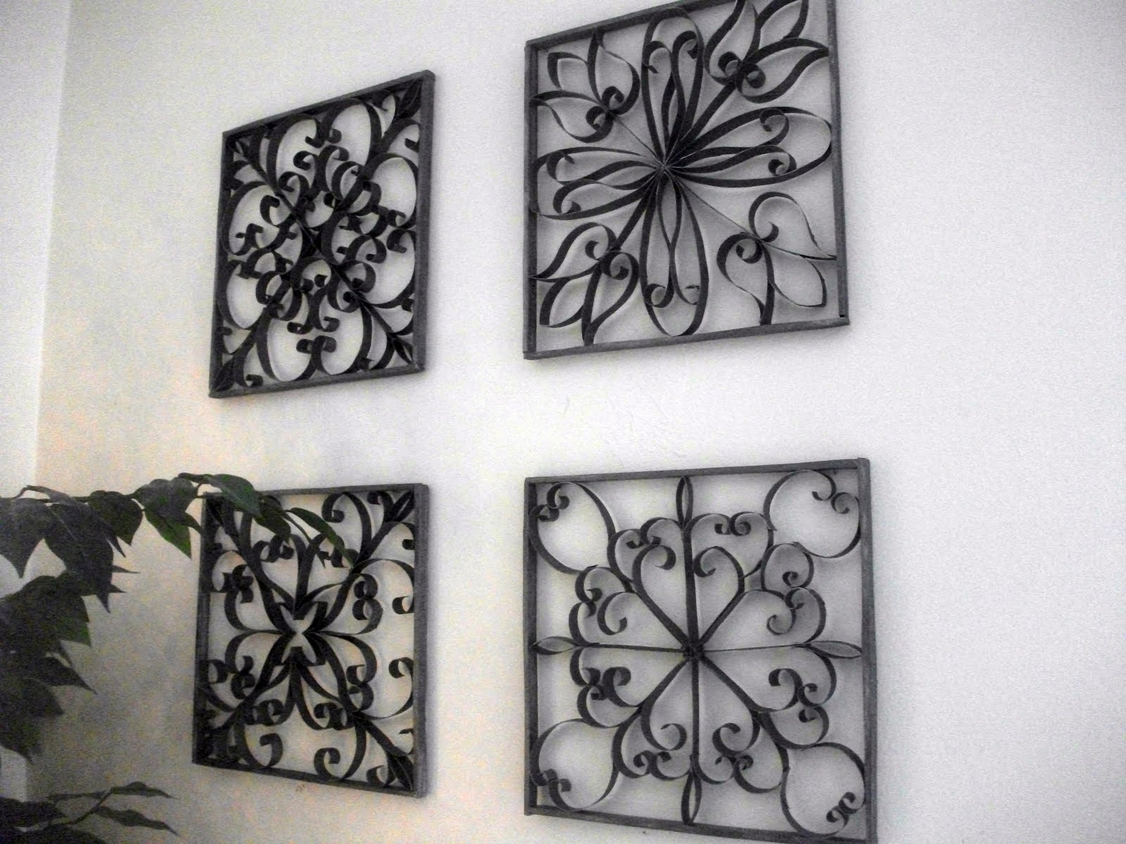 Faux Wrought Iron Wall Art | The Blog throughout Recent Iron Wall Art