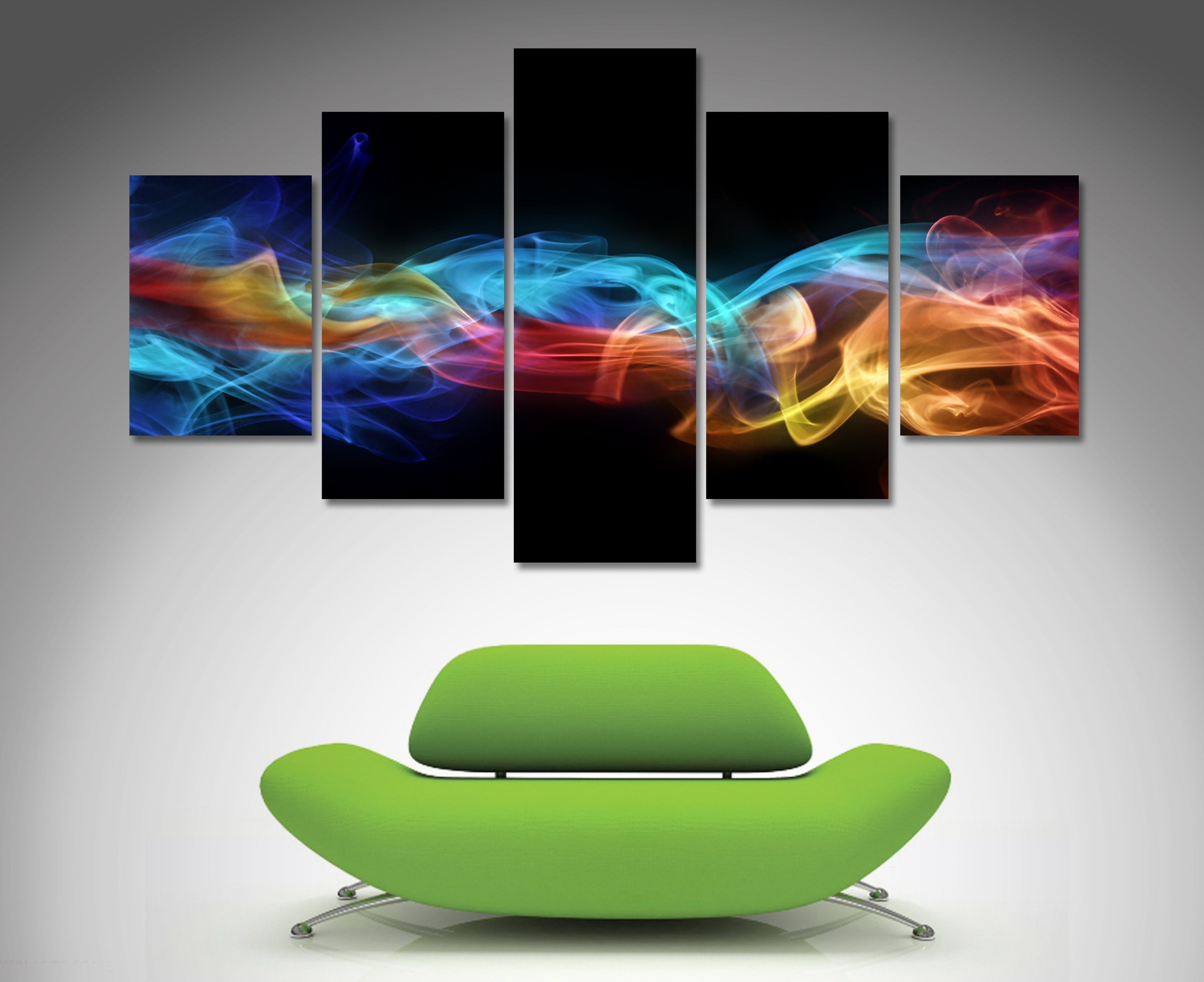 Fire And Ice 5 Panel Wall Art | Canvas Printing Australia With Regard To Most Recent Canvas Wall Art (View 10 of 15)