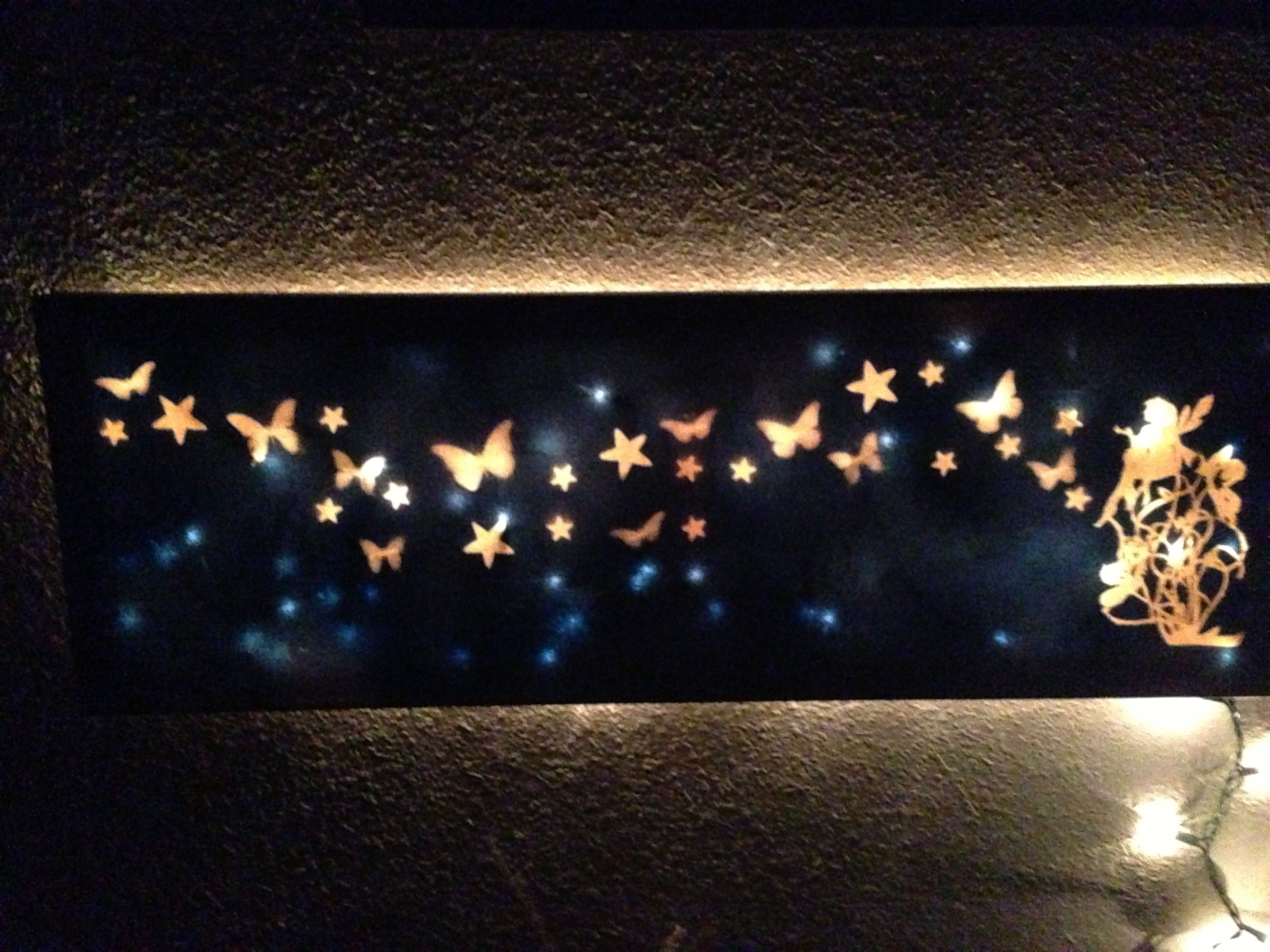 First Diy Light Up Canvas. #diy_Canvas_Light | ??????????? Pertaining To 2018 Light Up Wall Art (Gallery 10 of 20)