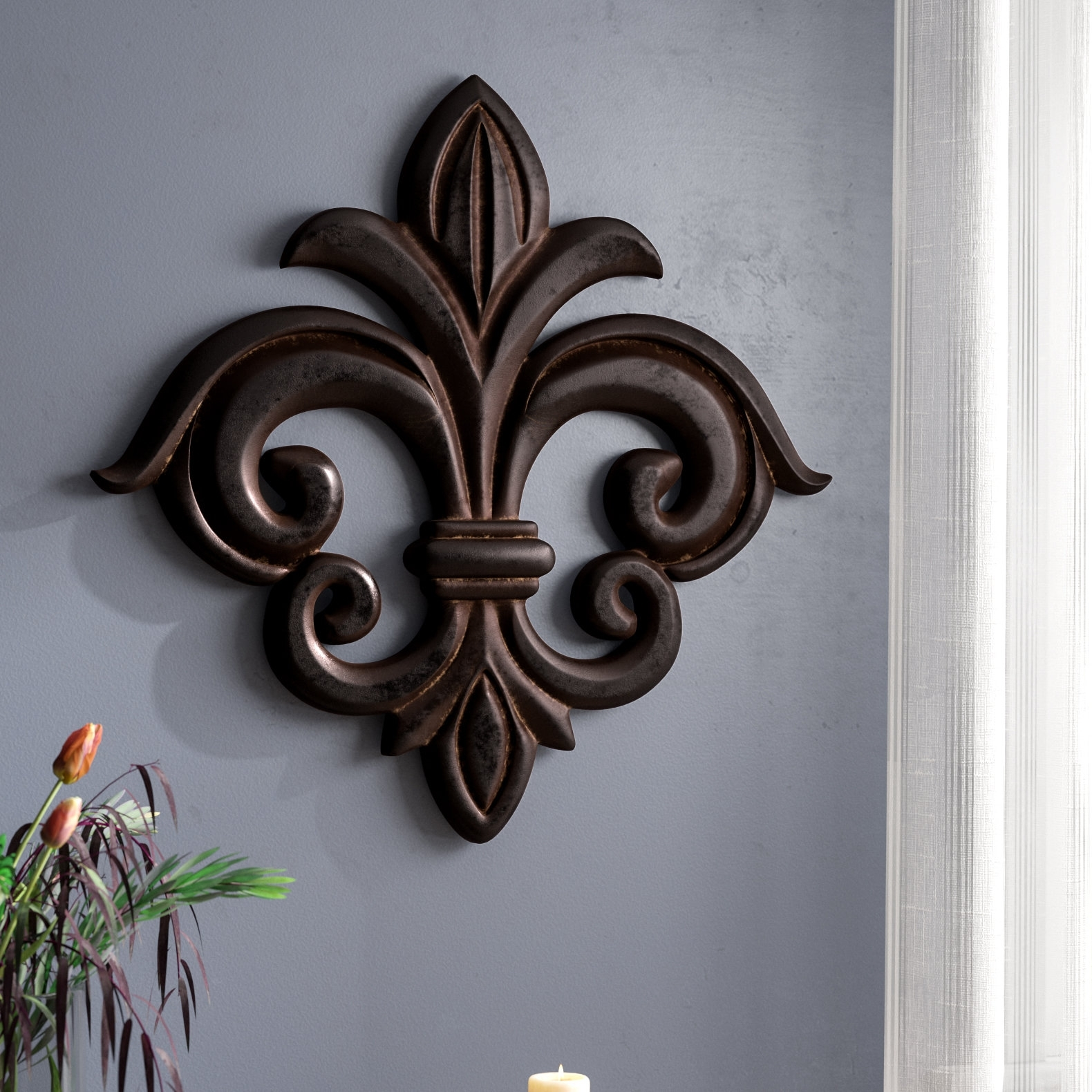 Fleur De Lis Living Wood Fleur De Lis Wall Decor & Reviews | Wayfair With Regard To Most Recently Released Fleur De Lis Wall Art (Gallery 14 of 20)