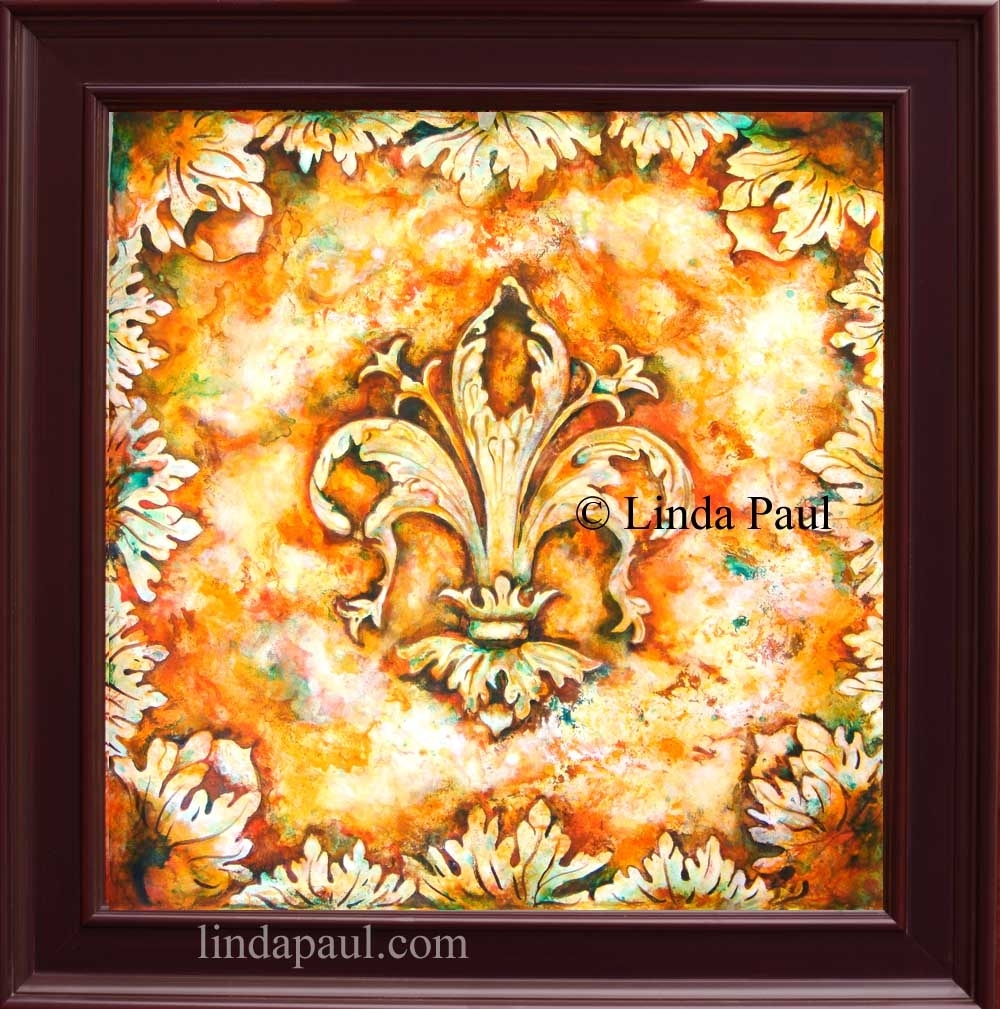 Fleur De Lis Paintings – Fleur De Lys Wall Art Decor Within Newest Wall Art Paintings (View 12 of 20)