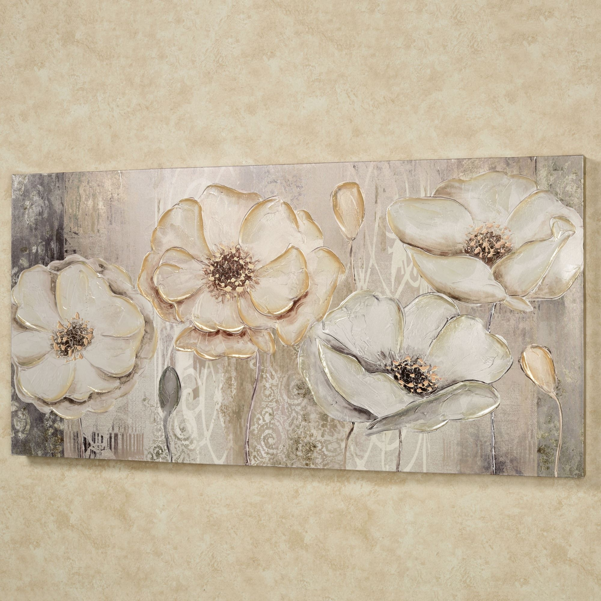 Floral Elegance Canvas Wall Art Within Latest Floral Canvas Wall Art (View 9 of 20)