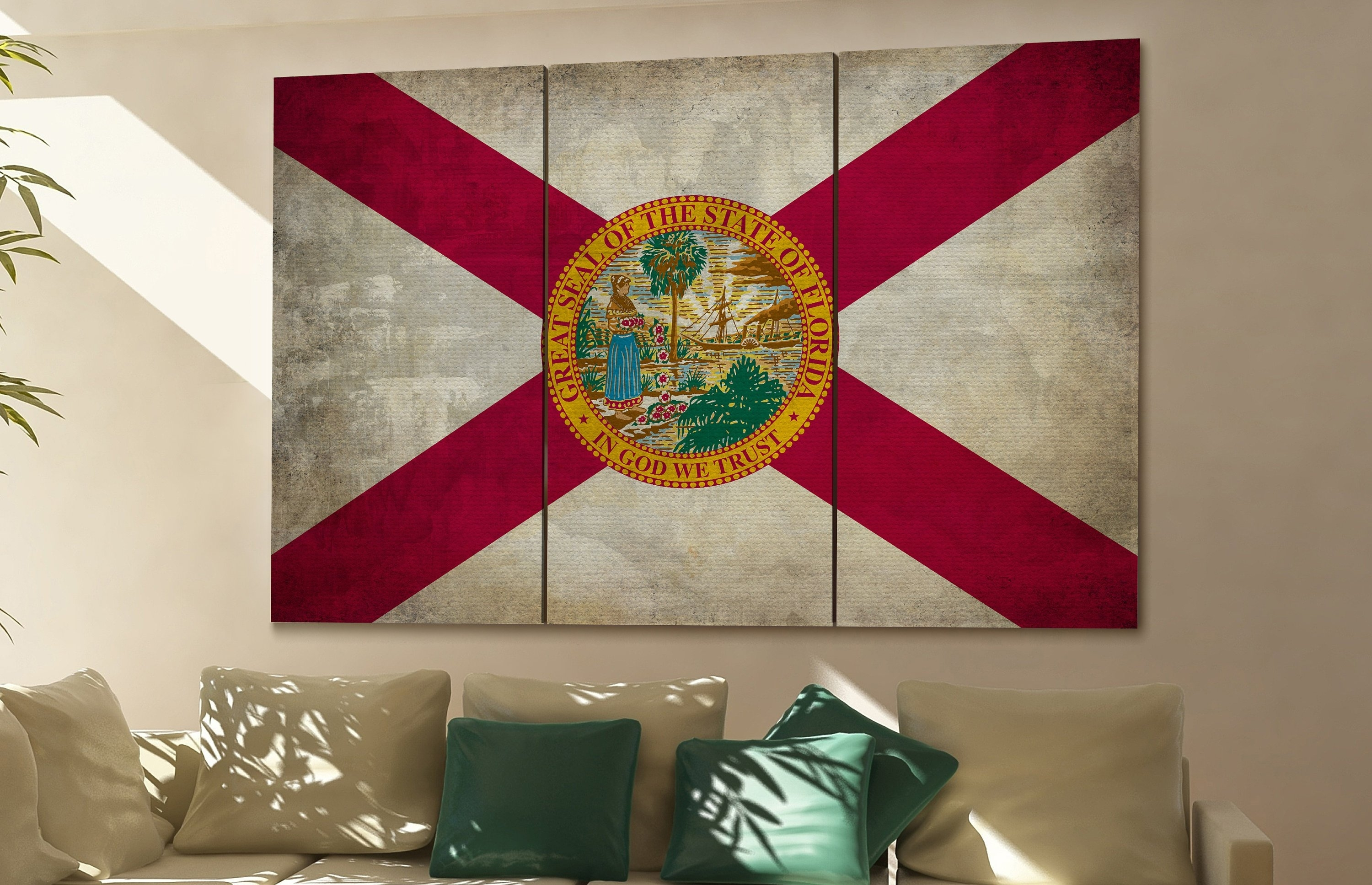 Florida State Flag Florida Flag State Of Florida Florida Wall Decor With Most Recently Released Florida Wall Art (View 5 of 20)