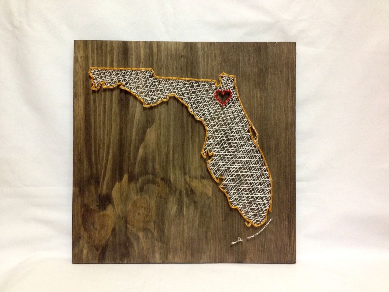 Florida State String Art Florida Wall Art Home Decor ?? Oneroots Throughout Latest Florida Wall Art (View 7 of 20)