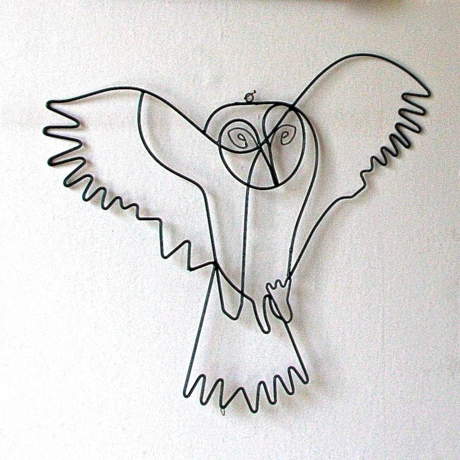 Flying Owl Wire Wall Artlondon Garden Trading For 2017 Wire Wall Art (View 4 of 20)