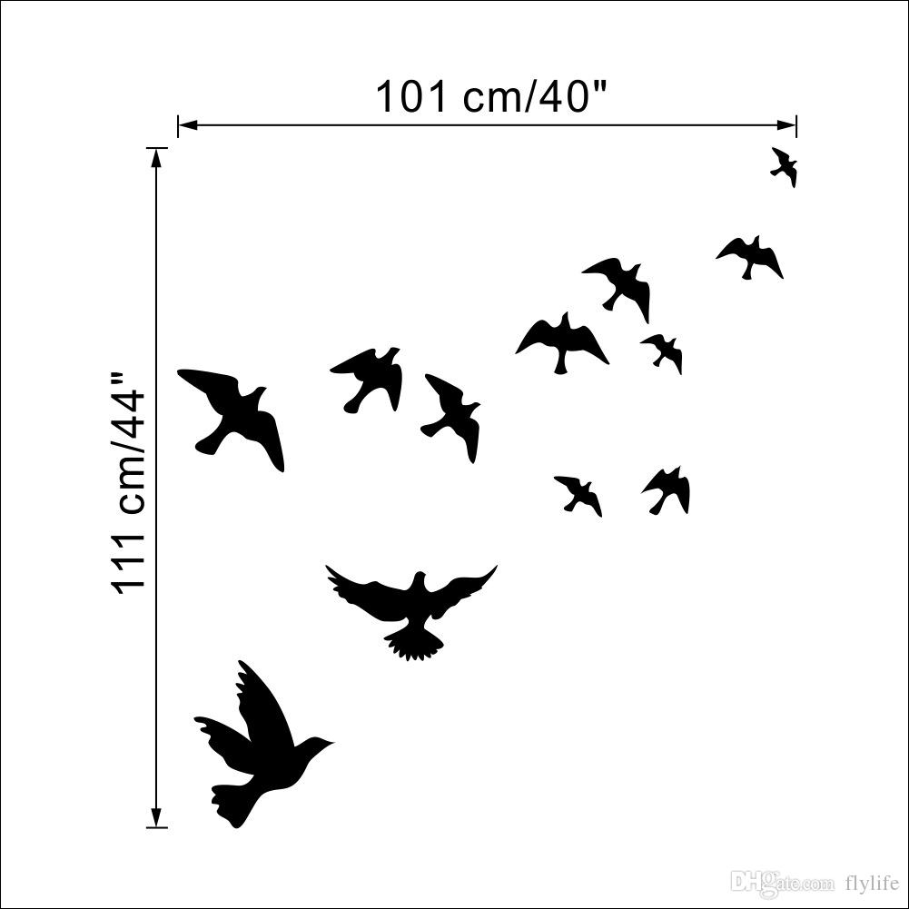 Flying Pigeon Bird Wall Art Stickers Decal Diy Home Decoration Wall Within 2017 Bird Wall Art (Gallery 8 of 15)