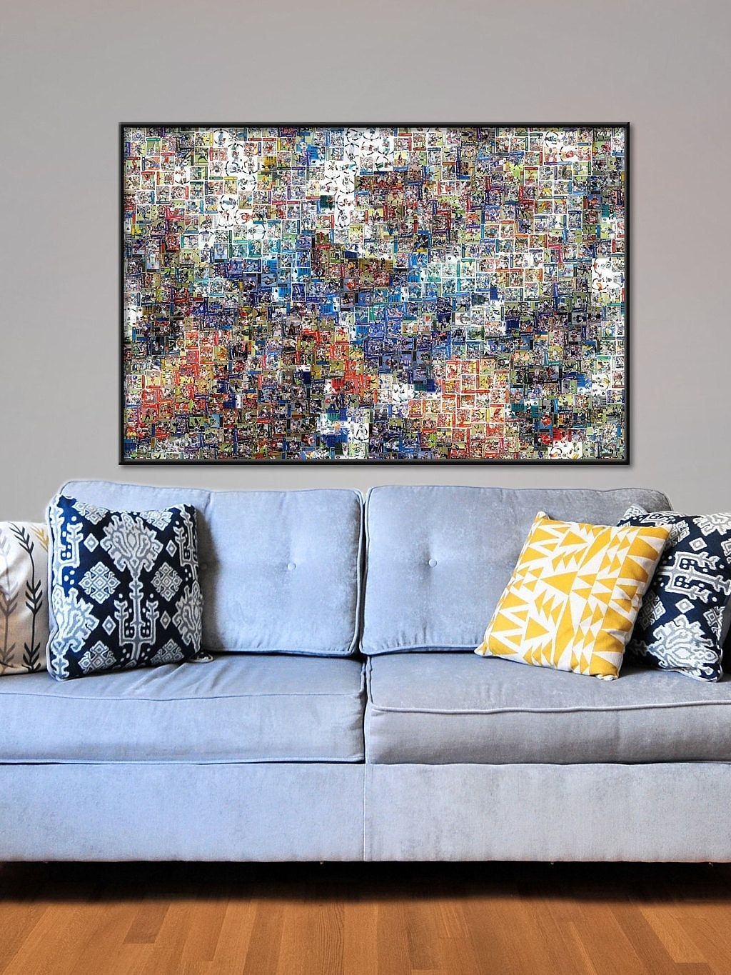 Football Wall Art – Matthew Stafford Mosaic – Detroit Lions Intended For Most Up To Date Nfl Wall Art (Gallery 8 of 15)