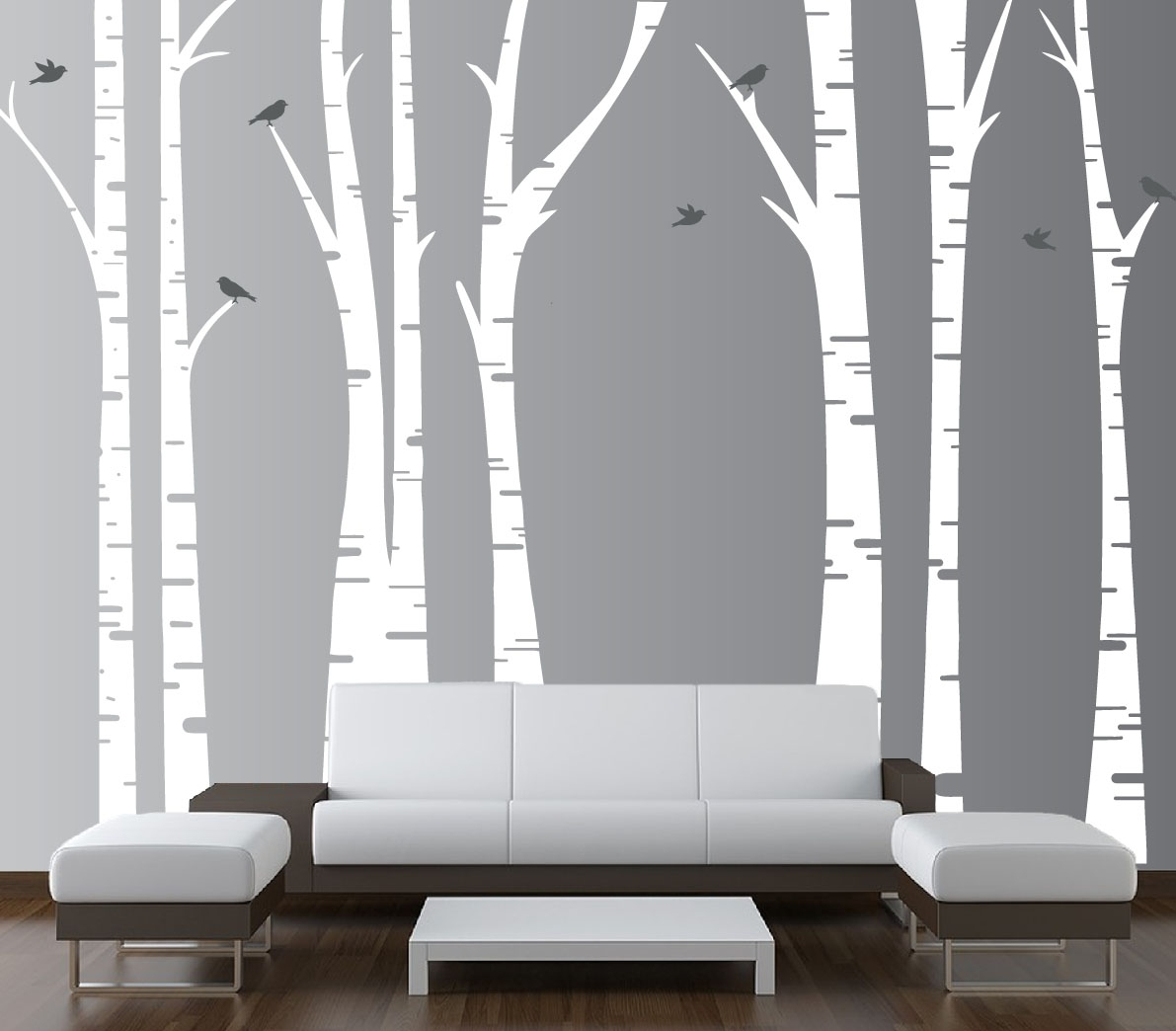 Forest Birch Tree Wall Art : Andrews Living Arts – Look Fresh And In 2018 Birch Tree Wall Art (View 9 of 20)