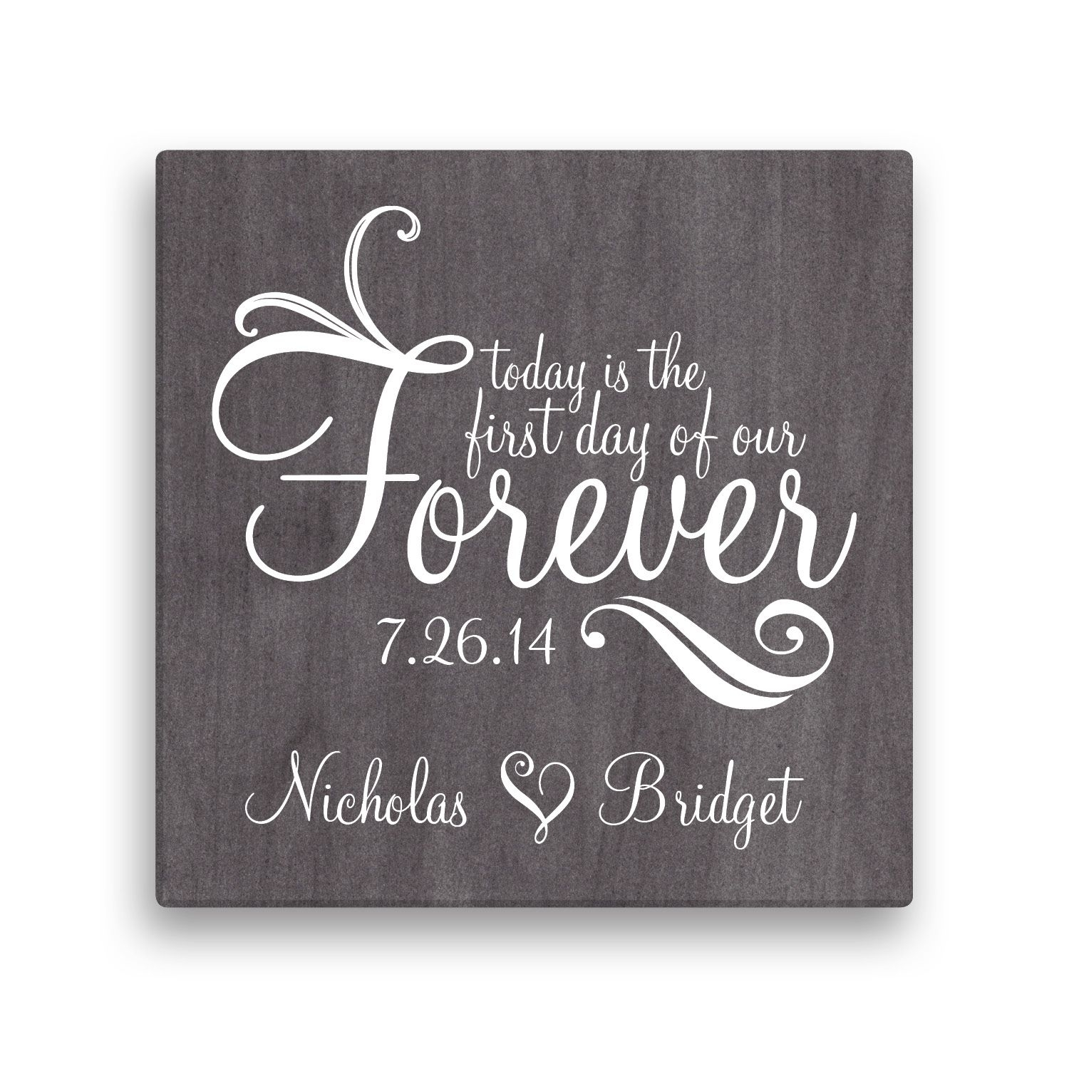 "Forever Personalized 16"" X 16"" Canvas – Wall Art & Prints – Home Pertaining To Latest Personalized Wall Art (View 11 of 15)"