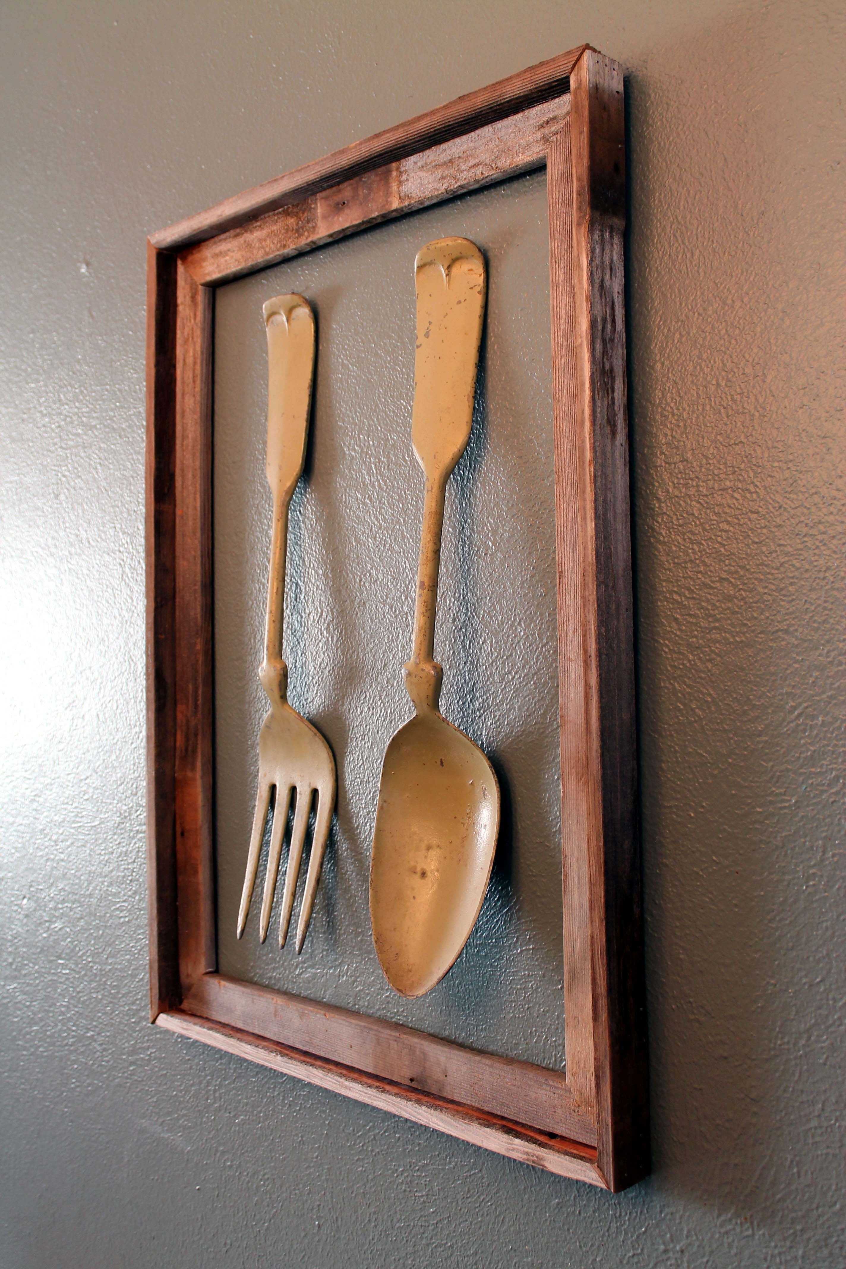 Fork And Spoon Fence Post Wall Art | Snugasabugbaby For Most Recent Fork And Spoon Wall Art (Gallery 3 of 20)