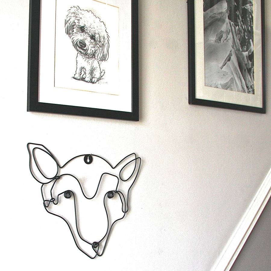Fox Wire Wall Artlondon Garden Trading | Notonthehighstreet Inside 2017 Wire Wall Art (View 9 of 20)