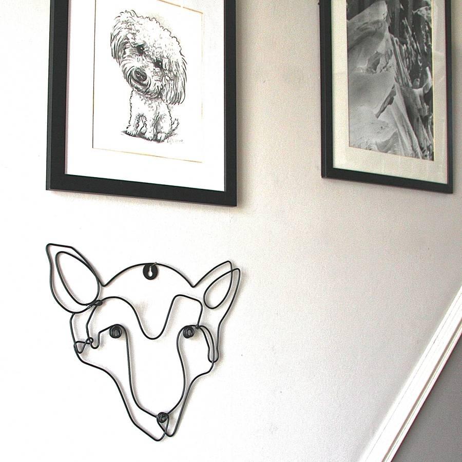 Fox Wire Wall Artlondon Garden Trading | Notonthehighstreet Inside 2017 Wire Wall Art (View 6 of 20)