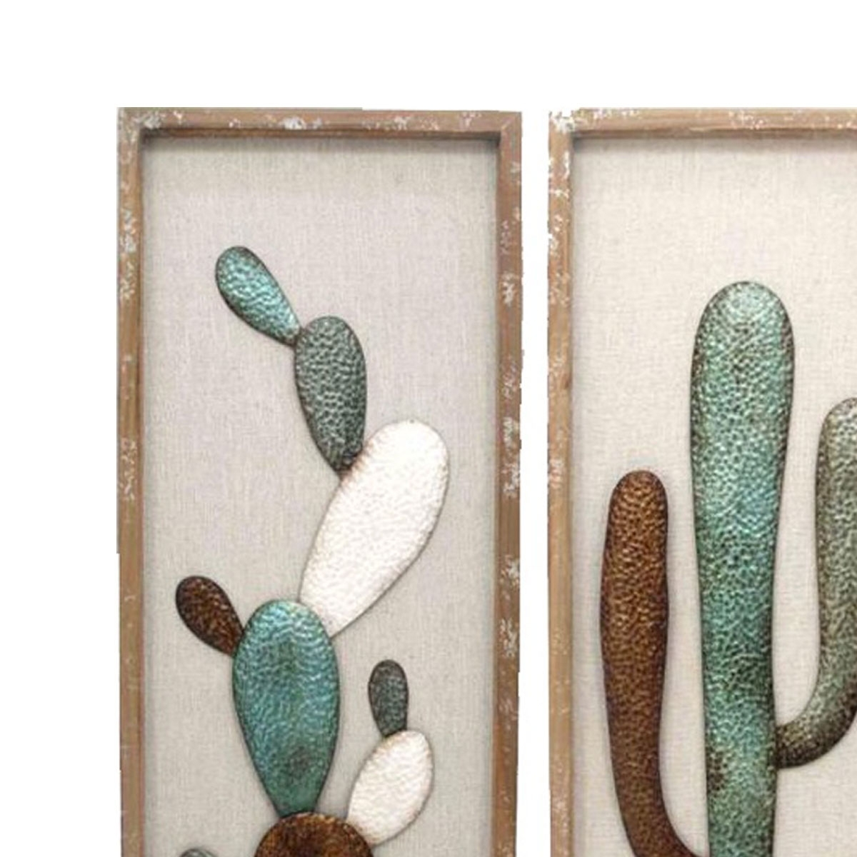 Framed Cactus Wood And Metal Wall Art | Luxe Mirrors regarding Most Current Cactus Wall Art