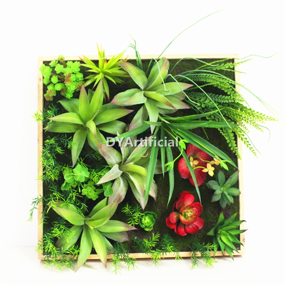 Framed Fake Artwork Green Succulent Plants Art Artificial Grass Wall With Most Up To Date Succulent Wall Art (View 6 of 20)