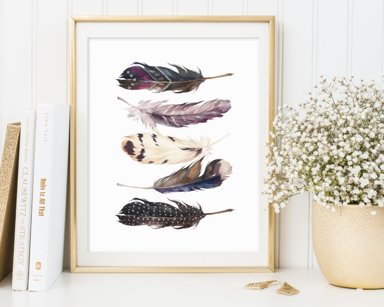 Framed Feather Wall Art : Andrews Living Arts – Look Wonderful In Newest Feather Wall Art (Gallery 1 of 20)