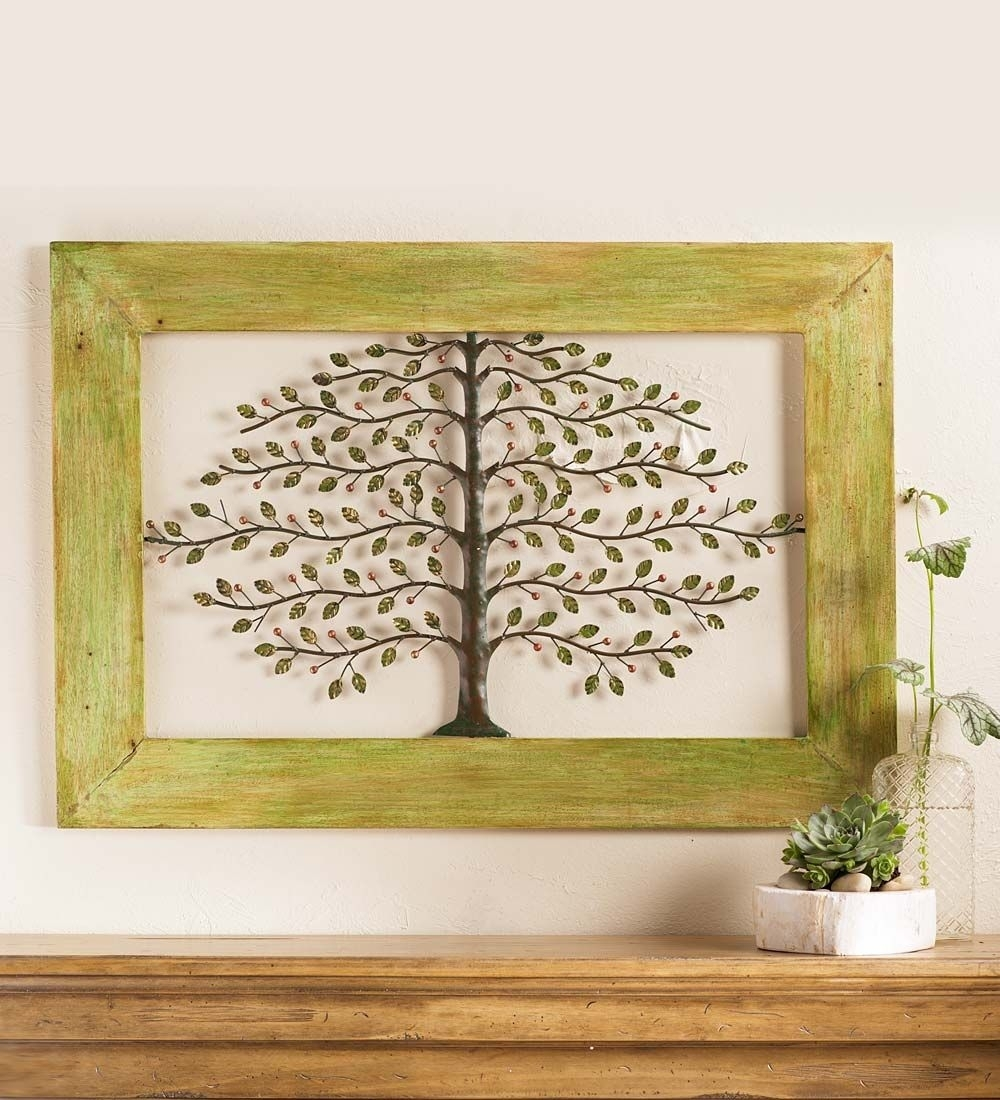 Framed Metal Tree Of Life Wall Art | On The Walls & Shelves & Thrown With Regard To 2018 Tree Of Life Wall Art (Gallery 12 of 15)