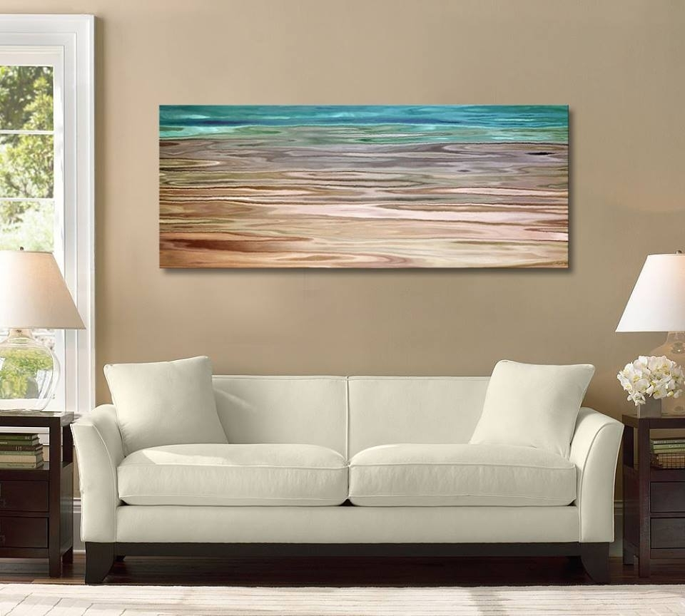 Framed Vs Unframed Canvas Art Unframed For Best And Newest Oversized Teal Canvas Wall Art (View 9 of 20)
