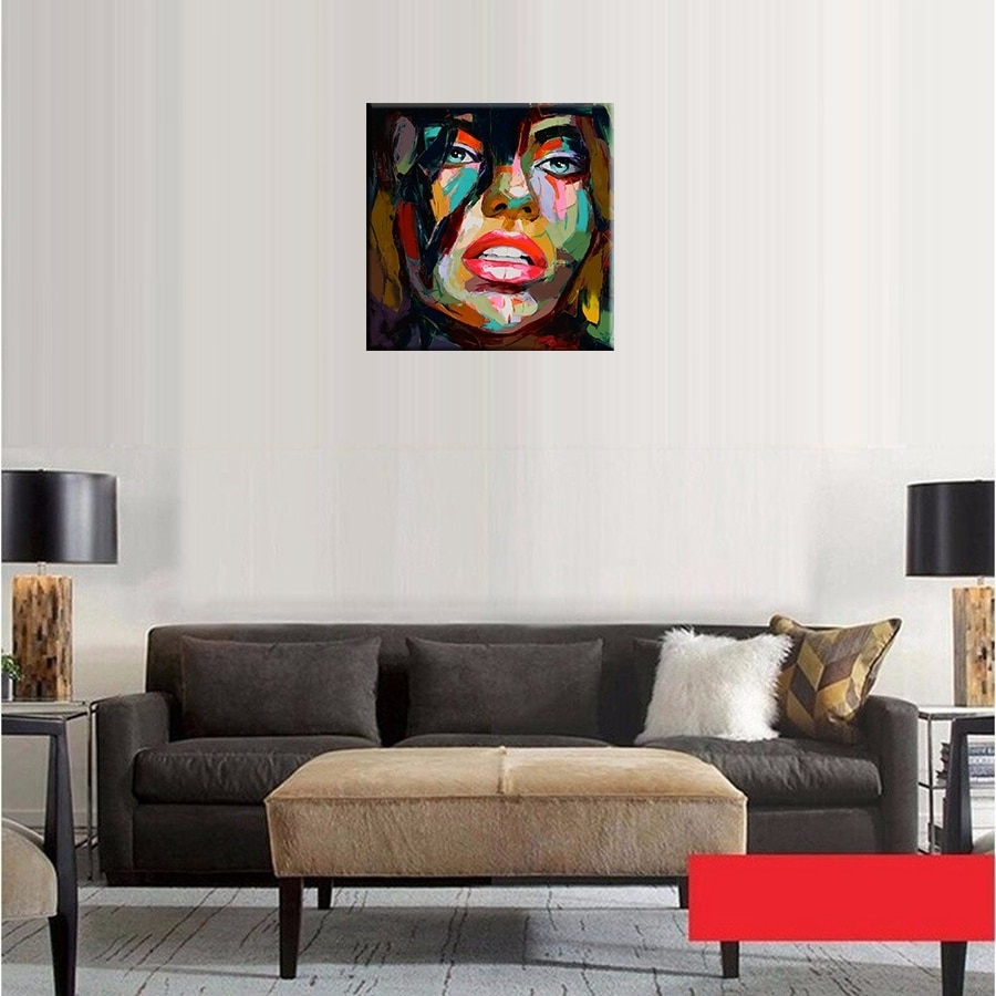 Francoise Nielly Oil Painting Handmade Abstract Portrait Palette With Current Home Goods Wall Art (View 9 of 20)