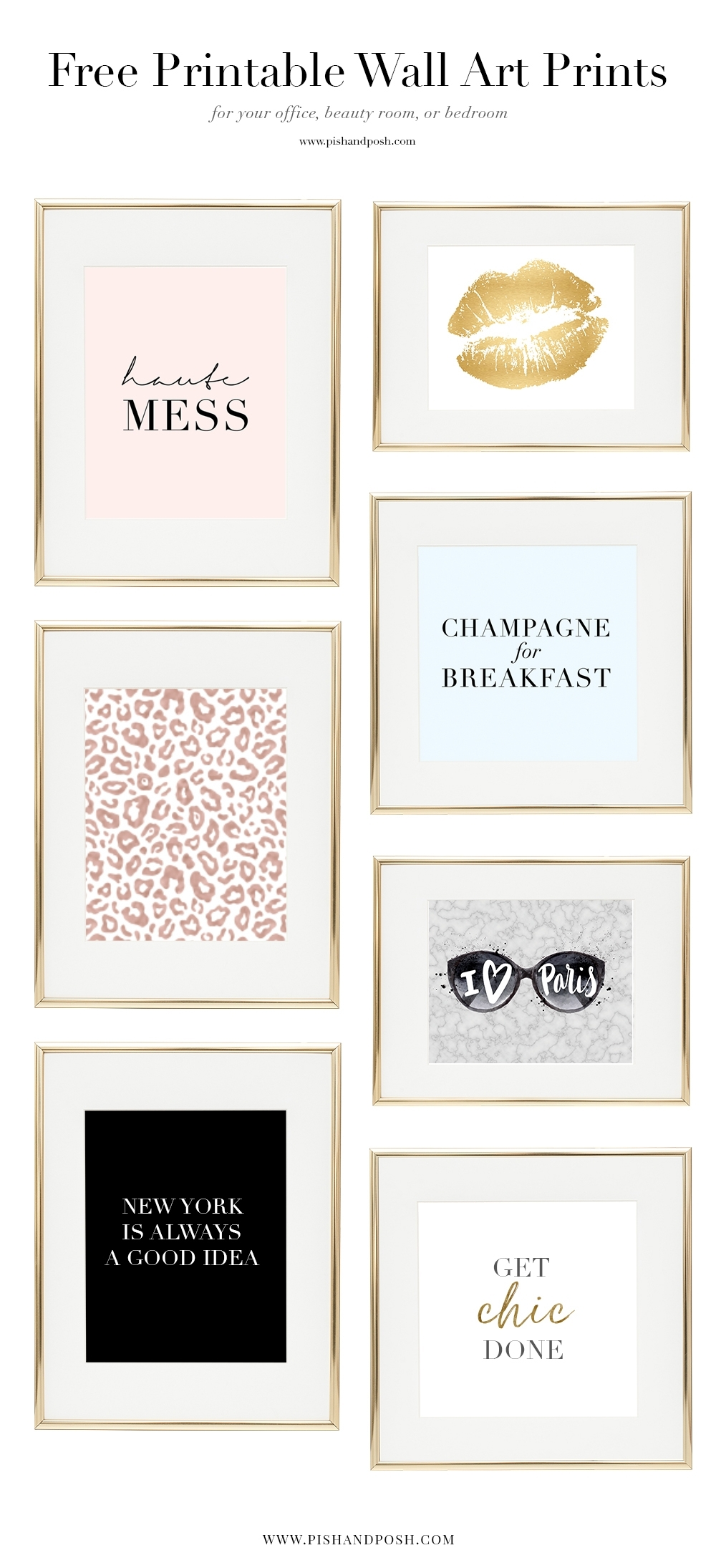 Free Girl Boss Prints For Your Office, Beauty Room, Or Bedroom in Most Up-to-Date Free Printable Wall Art