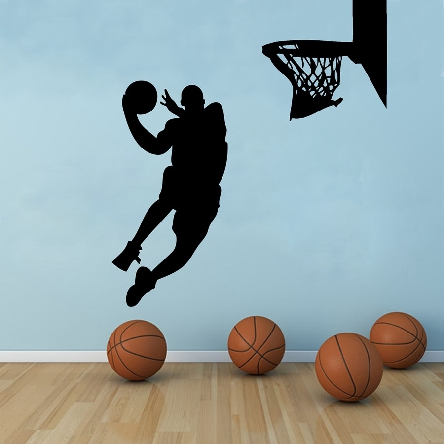 Free Shipping Large Size Basketball Wall Art Decor ,basketball Regarding Most Recent Basketball Wall Art (Gallery 2 of 15)