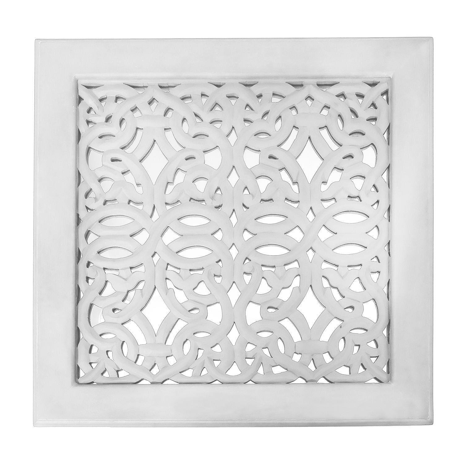 Fretwork Wall Art: White (set Of 3) | The Yellow Door Store Regarding Best And Newest White Wall Art (View 11 of 20)