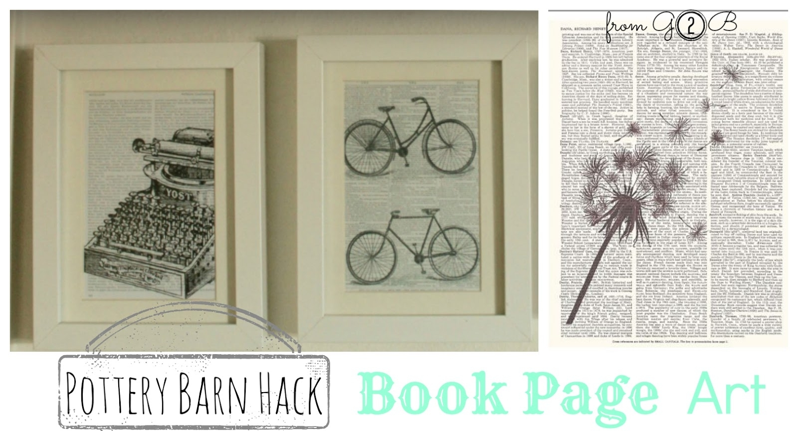 From Gardners 2 Bergers: [Pottery Barn Hack] Book Page Wall Art In Most Current Pottery Barn Wall Art (View 8 of 15)