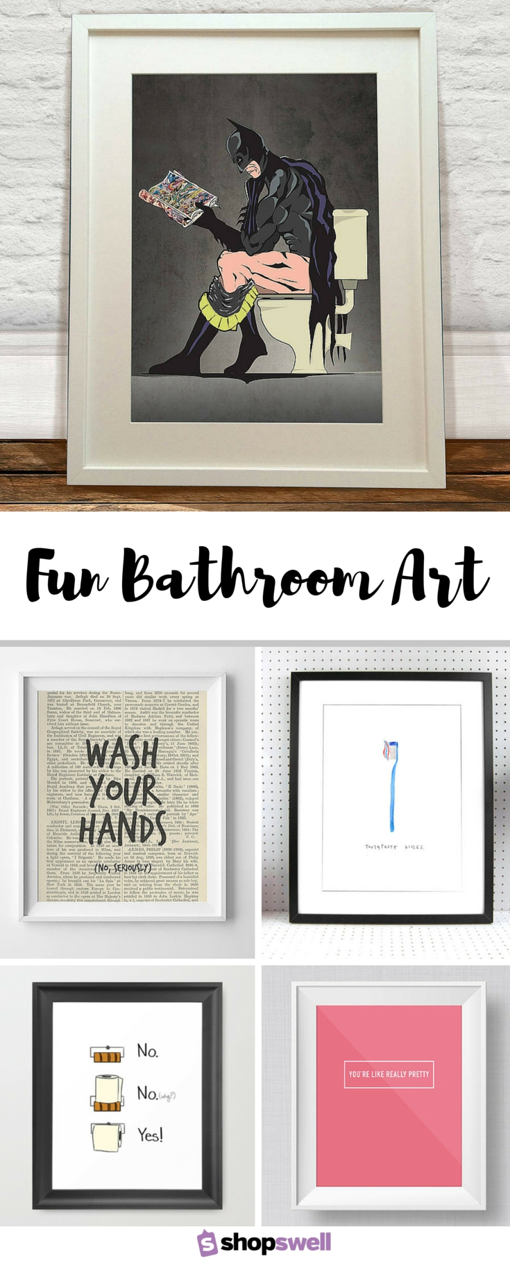 Fun Bathroom Art | Home Sweet Home (View 6 of 20)