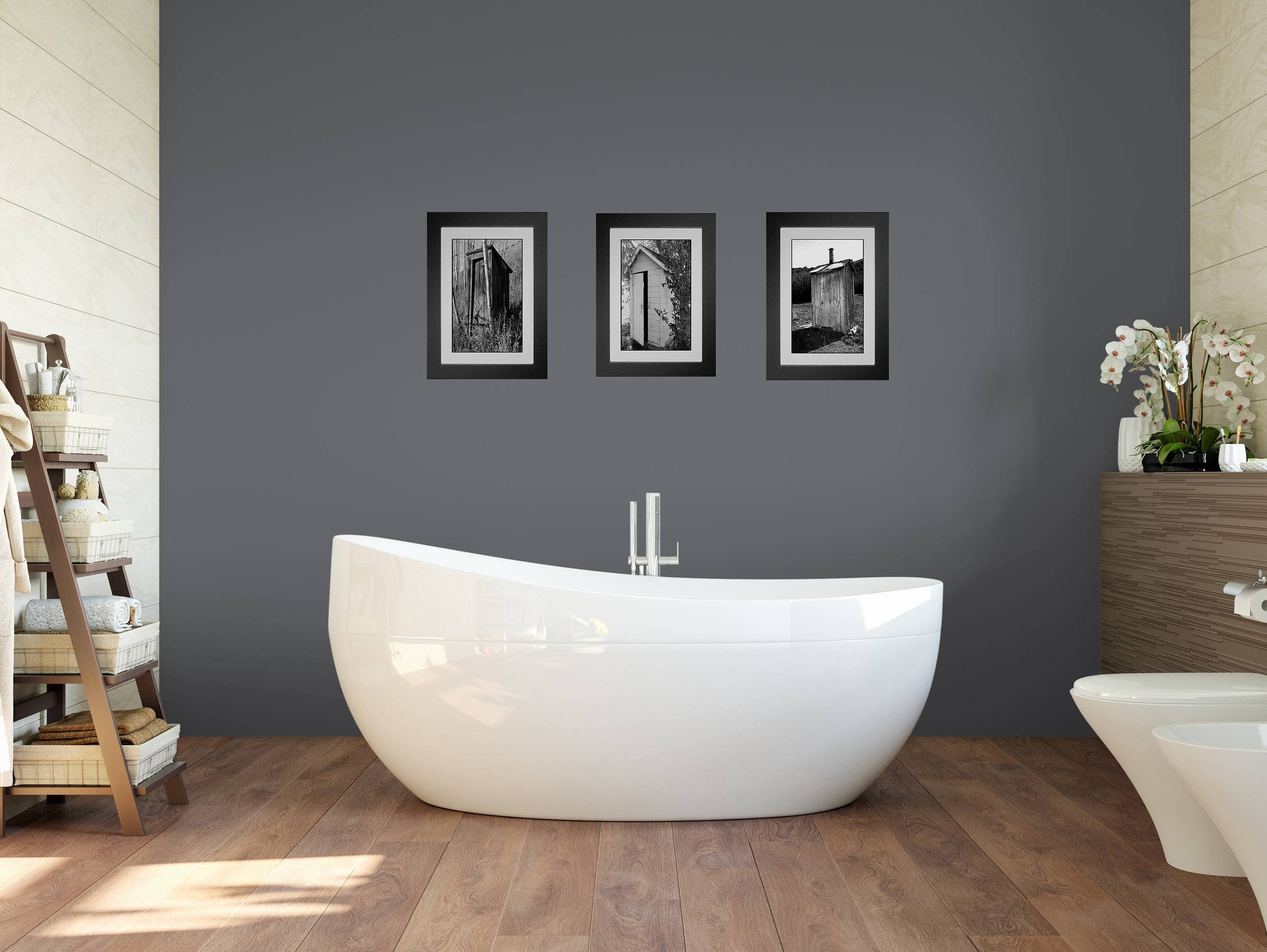 Funny Bathroom Art, Bathroom Wall Art, 3 Print Set, Framed Prints For Newest Wall Art For Bathroom (View 11 of 20)